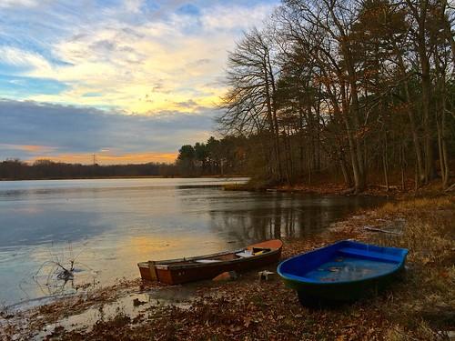 autumn sunset sky cloud lake nature boat pond showcase photostream
