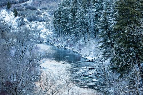 winter snow river utah unitedstates canyon explore provo