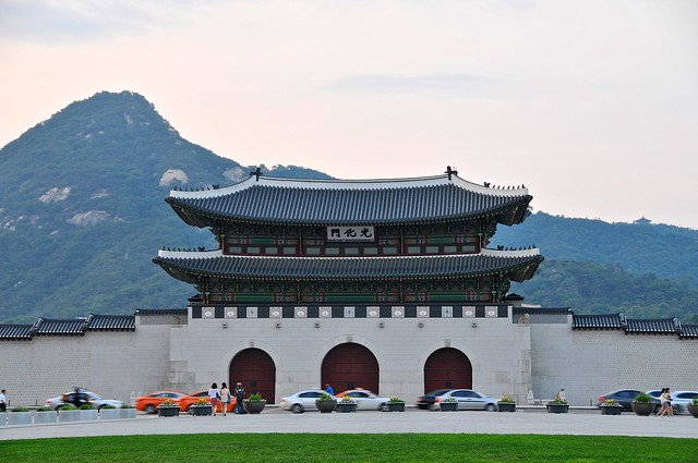 Gyeongbokgung Palace in evening