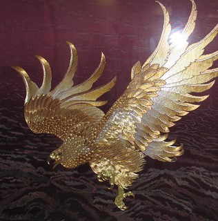 Eagle - Chinese hand embroidery art painting