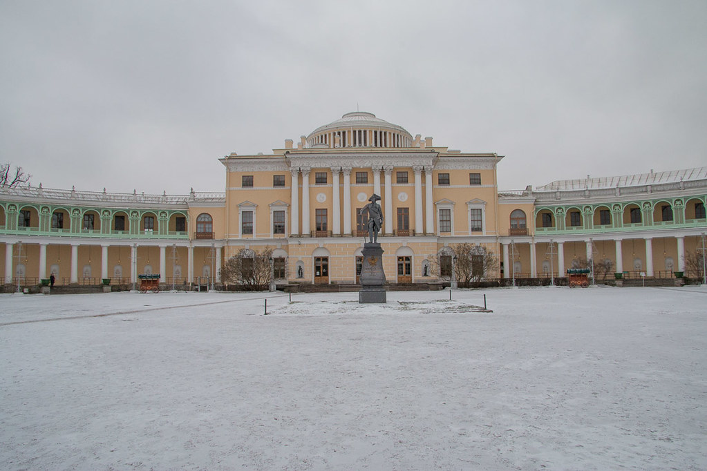 Outside Pavlovsk Palace inside St. Petersburg