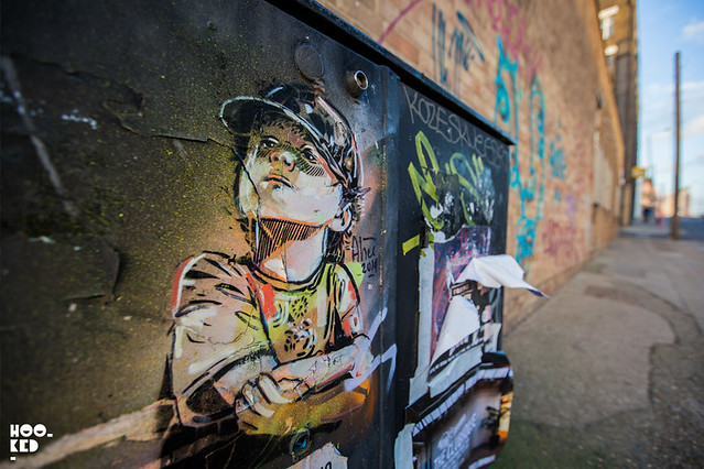 Alice Pasquini, Street Art Mural in Shoreditch, London. Photo ©Hookedblog / Mark Rigney.