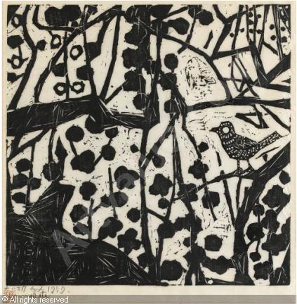 munakata-shiko-1903-1975-japan-bush-warbler