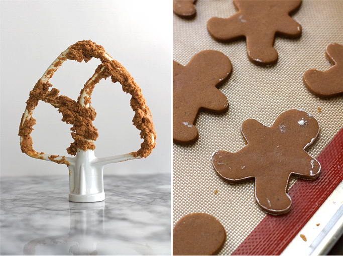 Spiced Gingerbread Cookies - Lightly sweetened so they're perfect with royal icing or a light dusting of powdered sugar! | Littlepsicejar.com #gingerbread #holidaybaking #cookies