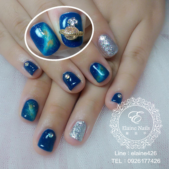 1031221湛藍銀河跳指銀色
