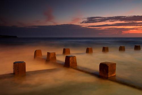 ocean sea seascape beach swimming sunrise dawn sydney baths newsouthwales coogee