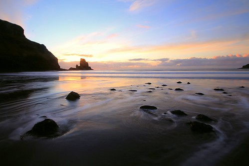 sunset seascape skye beach sunrise canon landscape bay scotland talisker