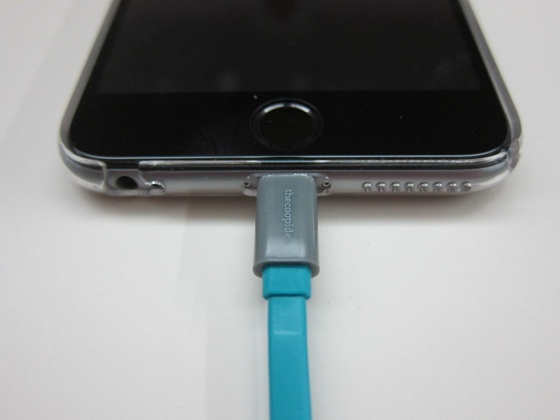 thecoopidea Pasta Lightning Cable - Plugged Into iPhone 6 Plus