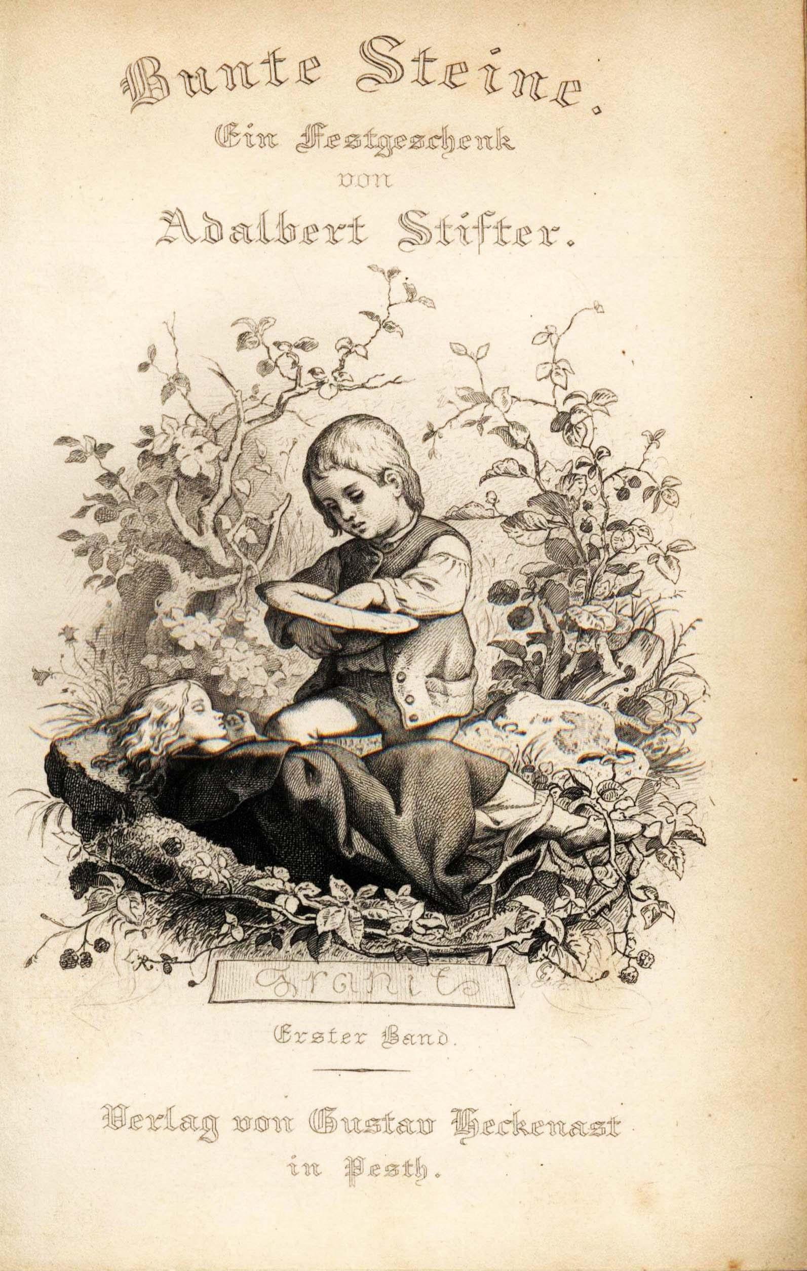 Ludwig Richter, Frontispiz zu Adalbert Stifter, Bunte Steine, 1853, Band 1
