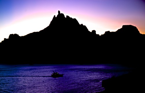 ocean cruise sunset sea mountains sonora sunrise mexico bay boat volcanic sancarlos