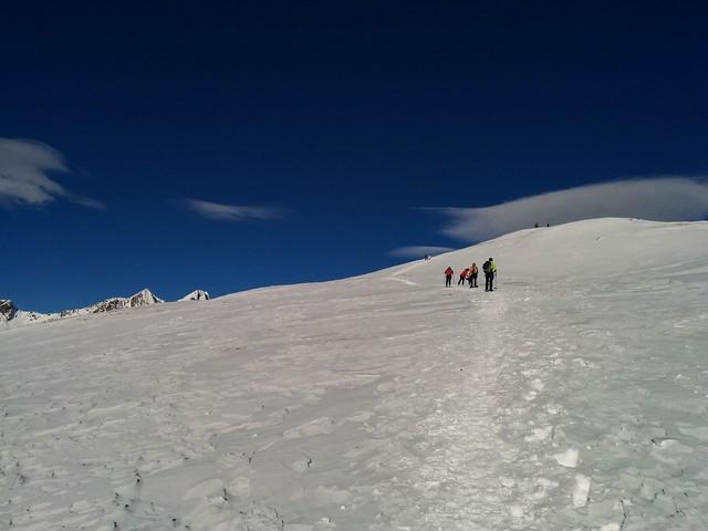 Gipfelaufstieg Terentner Joch, die letzten Meter