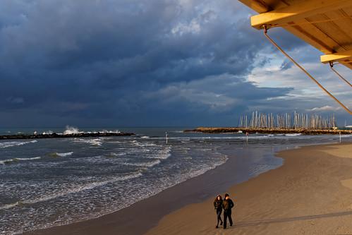 winter people seascape beach water clouds israel telaviv waves sony telavivbeach minolta2485mm sonya77
