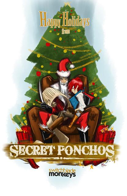 Secret Ponchos Xmas Card