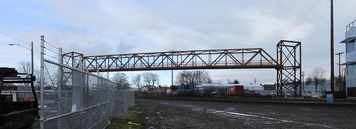 A panoramic view of the new toonerville bridge (over the north yard throat of Brooklyn Yard)