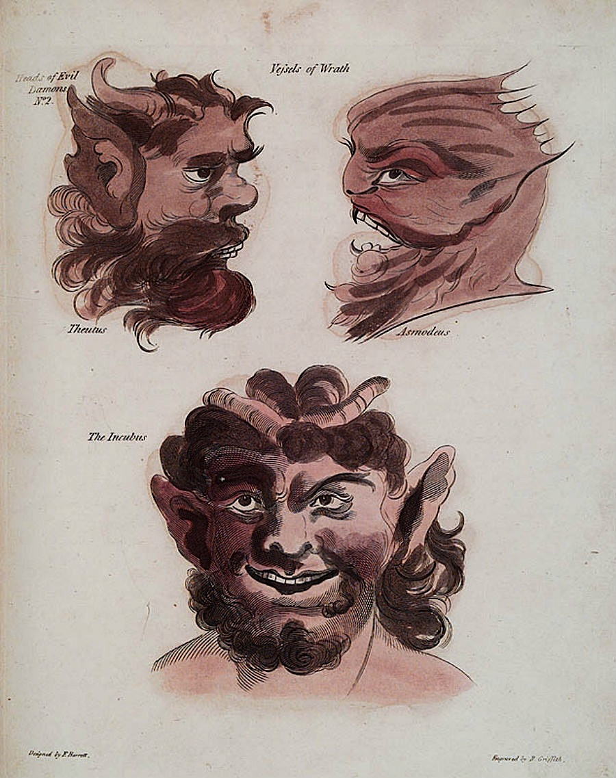 Francis Barrett - The Magus, 1801 - Demon Portraits 2