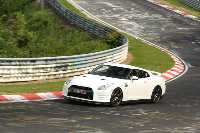 Nissan GT-R blanc test mule 2