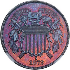 Lot 1070 1872 Two Cents obverse