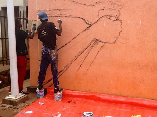 "africa streetart mural aids murals rwanda artists stigma socialchange kinyarwanda kayonza africancontemporaryart ""busstop"" kuremakurebakwiga ""buspark"""