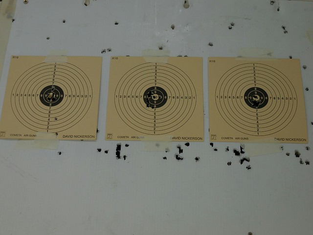 A bit better grouping, 3rd target, 12 rounds.