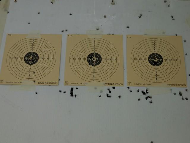 A bit better grouping, 3rd target, 12 rounds.