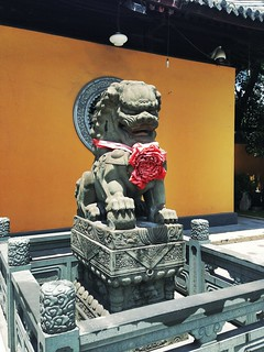 Attēls no Longhua Temple. china trip statue architecture temple shanghai buddha chinese lion luck longhua