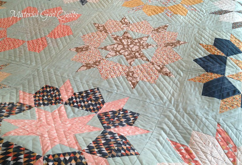 Persimmon Swoon quilting detail