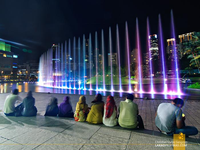 Fountain Show at the Petronas Towers in Kuala Lumpur, Malaysia