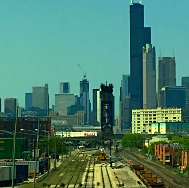 Chicago once given the name Rail Hub of United State.