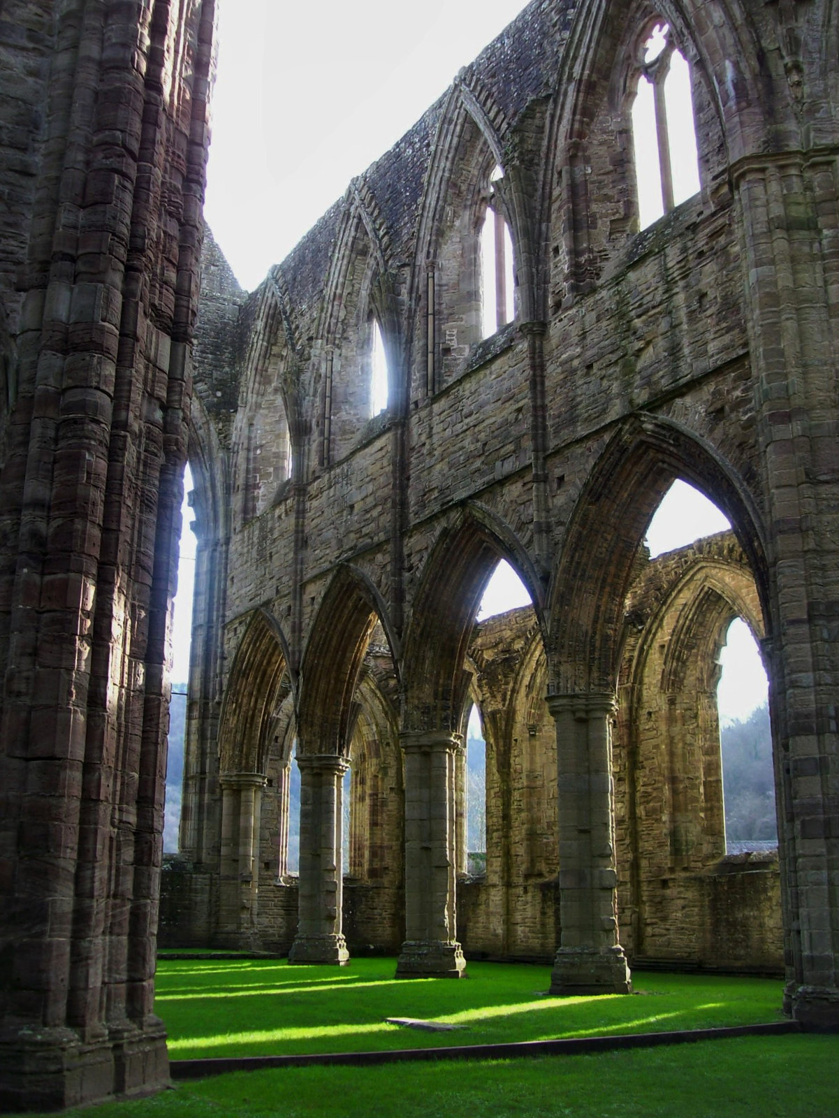 The nave, Tintern Abbey. Credit Poliphilo
