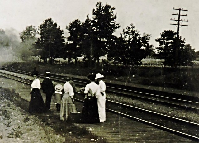 Waiting for the train, Lorne Park, c. 1910
