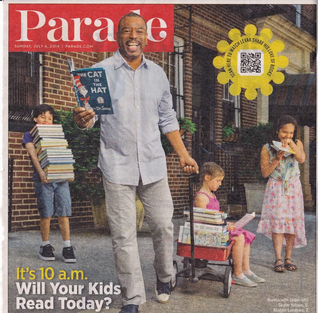 Reading Rainbow - Parade Magazine with LeVar Burton | Flickr