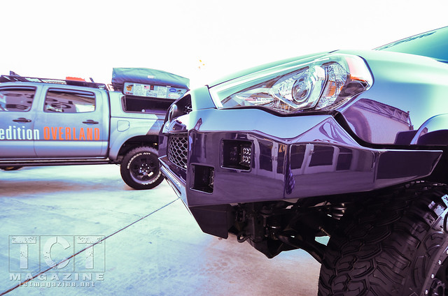 Toytec Lifts 4Runner & Expedition Overland Tacoma featured in the Toyota Outdoor Display
