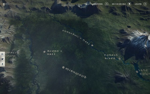 CherryCharlie.nl ~ Tip: Middle Earth 3D Map by Google Chrome Experiment