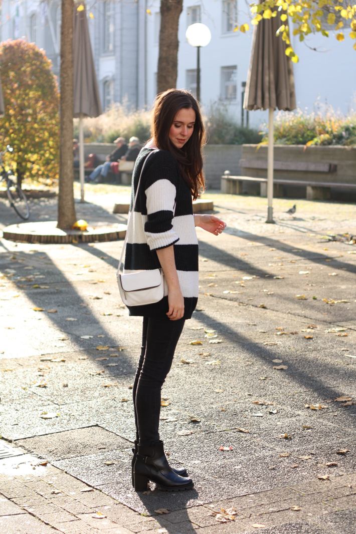 outfit striped vintage sweater zign platform boots
