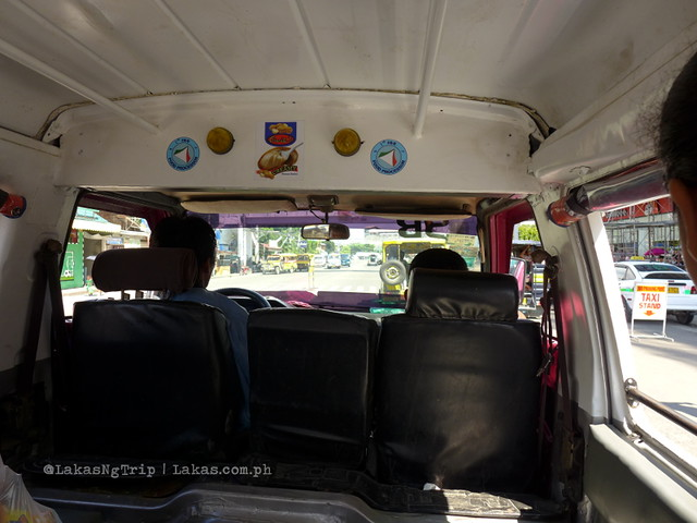 Inside the jeepney bound for Dalipuga. Dalipuga Falls in Iligan City, Philippines