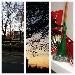 Lovely afternoon in my neighbourhood. Even bagged gifts from the @WHampstead Xmas market. Feeling v festive and cheery.