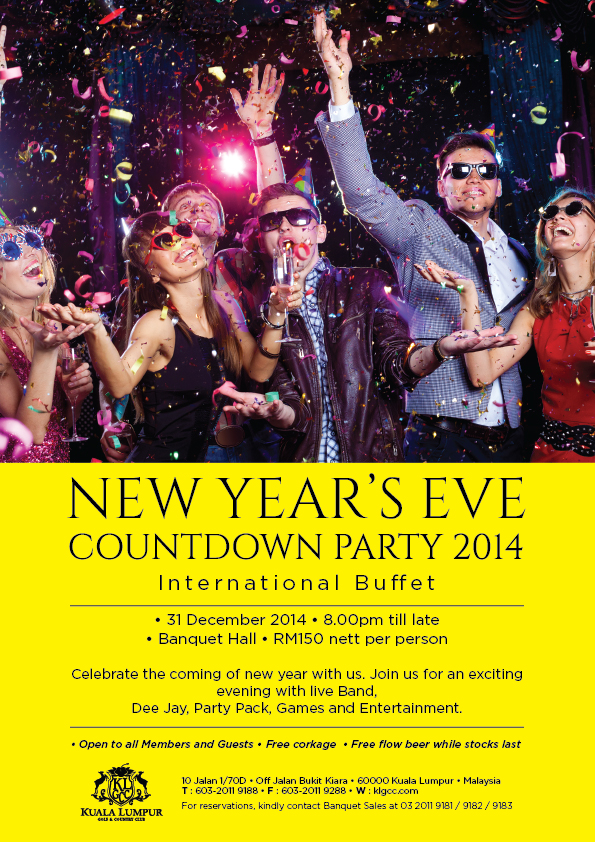 KLGCC's New Years Eve Countdown Party 2014