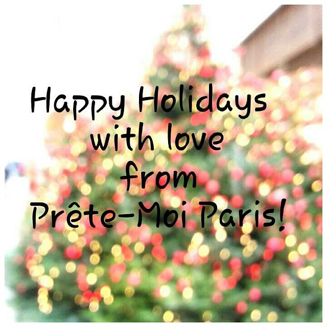 Wishing you all a cheerful season of celebration this winter! #WithLove from #Paris ♥