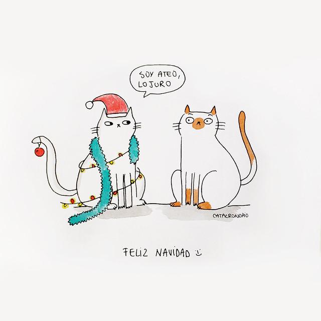 Navidad felina y atea