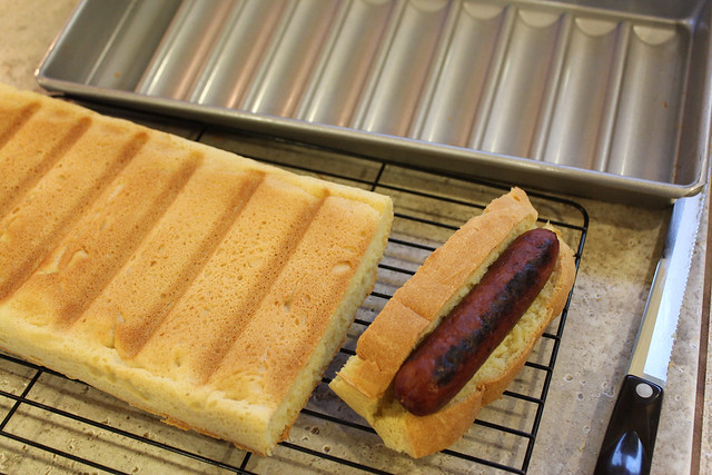 Hot Dogs fit perfectly in the bun!