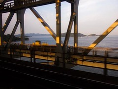 Sunrise in Great Seto Bridge
