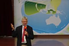 荷蘭專家Dr. Frans Vera分享Oostvaardersplassen濕地生態保留區的發起經驗(圖片來源:嘉義林管處提供)