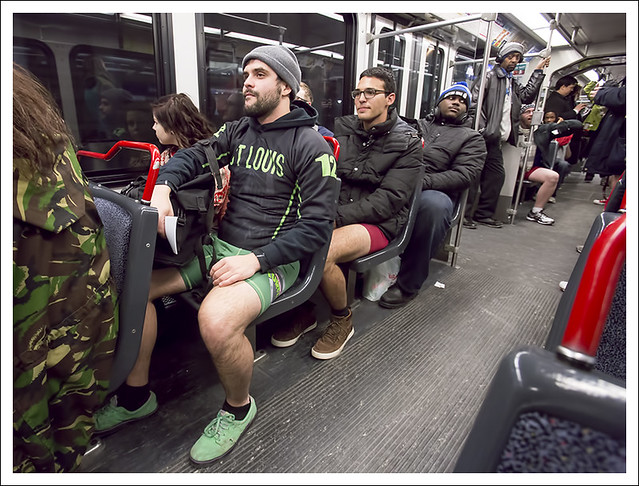 MetroLink No Pants Ride 2015-01-11 13
