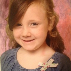 Teagan's #kindergarten picture. It's not a bad smile for her :).
