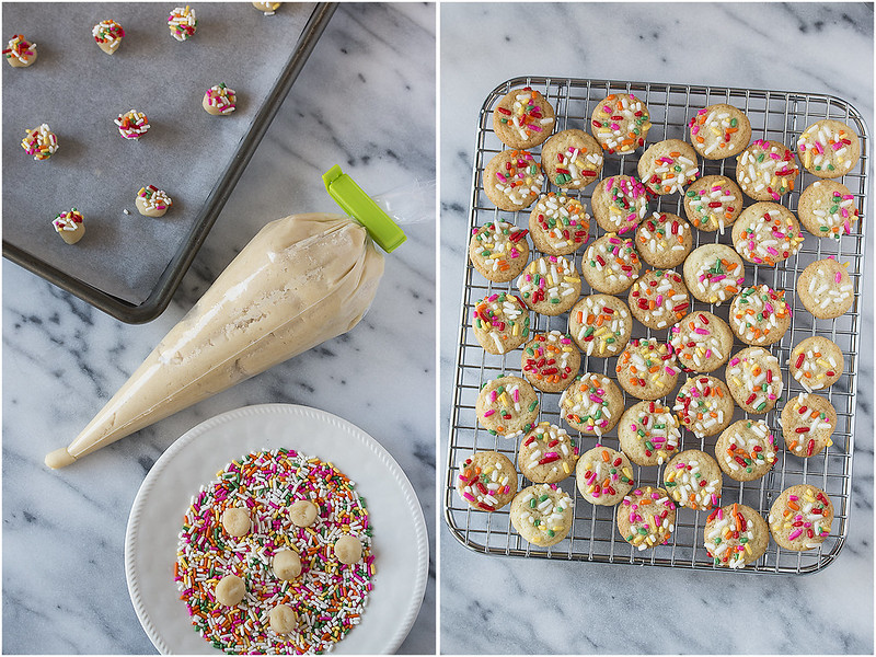 Give Big Thanks with Teeny Tiny Sprinkle Cookies - an incredibly easy technique for quickly baking dozens of teeny tiny cookies perfect for sharing!
