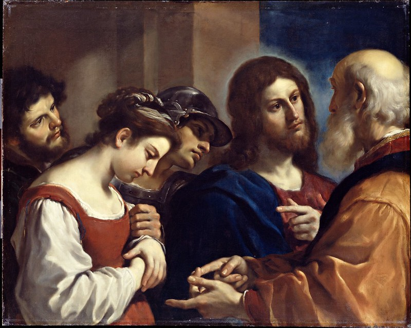 Guercino - The Woman taken in Adultery (c.1621)