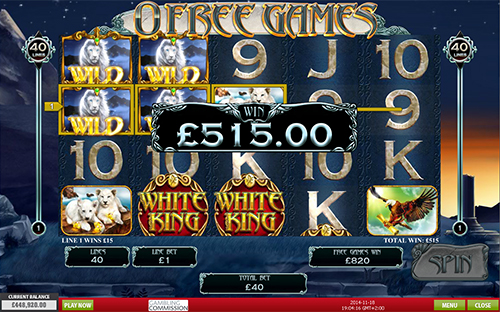 free White King free spins big win