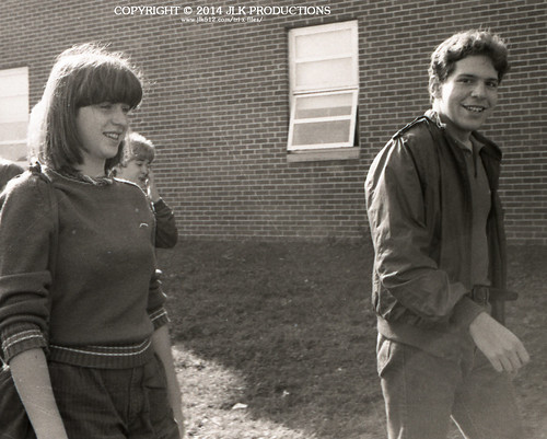Tri-X Files 84_28.19a: Pam and Keith, Walking Back to the Bus