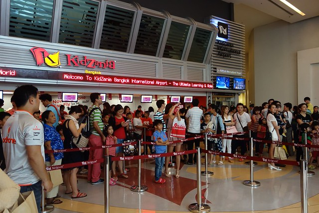 The crowd at the ticketing counter.