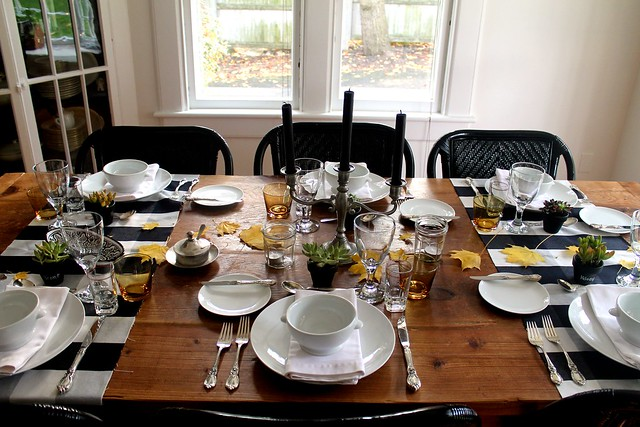 modern rustic table top + thanksgiving